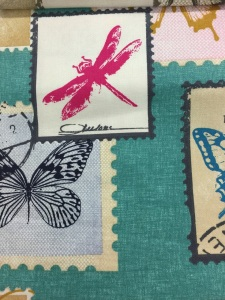 Butterfly stamp aqua